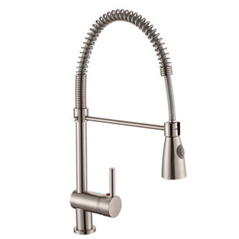 Contemporary Chrome Polished/Nickel Brushed Faucet Pull Out Kitchen Mixer Sink Tap