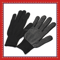 Hair Straightener Curling Tong Hairdressing Heat Resistant Finger Gloves With PVC Dots