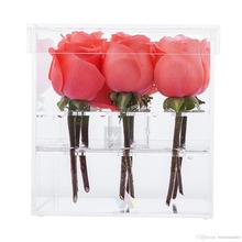 China Products Heart Shape Acrylic Flower Box With Clear Lid