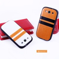 Top quality protective PU leather case for mobile TPU IMD case for Galaxy S 3 China alibaba phone accessory