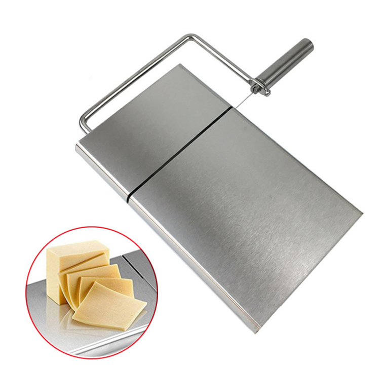 Stainless steel cheese wire slicer cheese block cutter