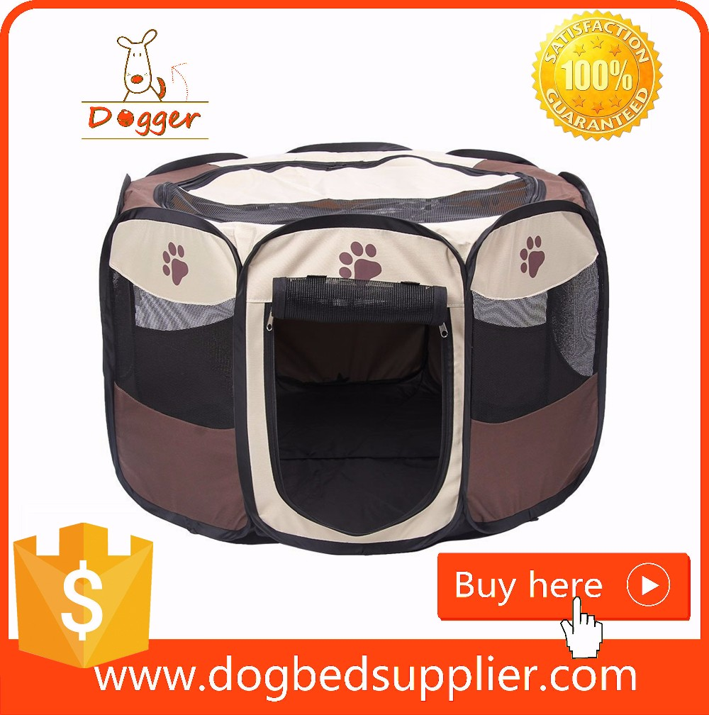 2017 Folding Durable Pet Tent/dog pen/Dog Cage with Strong Steel Frame
