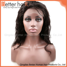 Custom 20inch body wave wigs human hair ear to ear lace frontal