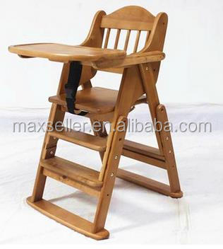 Wooden High Chair With Tray. The Perfect Adjustable Baby Highchair Solution For Your Babies and Toddlers or as a Dining Chair