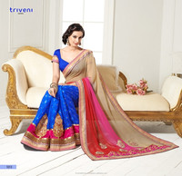 Lace Bordered Party Wear Saree