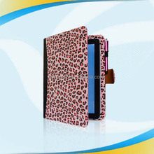 new leopard grain leather case,for kindle fire hd 8.9 leather cover