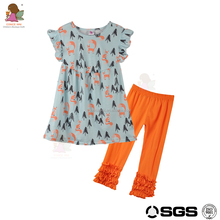 CONICE NINI brand 2017 wholesale children clothes flutter sleeve baby clothing sets 100% cotton wholesale children clothing usa