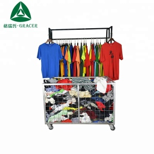 China factory men t-shirt korea style used clothing in bulk ukay ukay second hand clothing