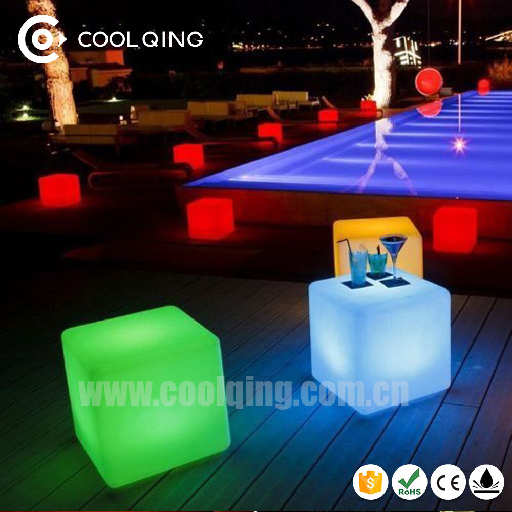 illuminated Casino Chair Led Cube Bar Furniture Guangzhou Chairs Wedding Decoration