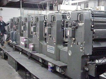 HEIDELBERG SM102S Offset Press, 6 Color, Grey