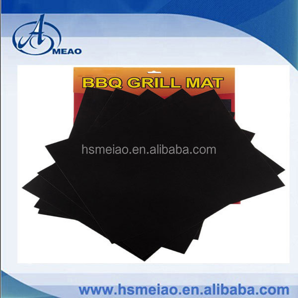 Wholesale checkout 40X50CM Non stick PTFE oven liner reusable baking sheet BBQ mat Grill sheet