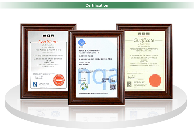 EPDM rubber bumper strip glass edge protection