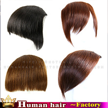 Remy Human Hair Clip in Bangs extensions Human Fringe Natural Hair Bangs Hairpieces On Front Neat Blunt Bangs 8A Hair Extensions
