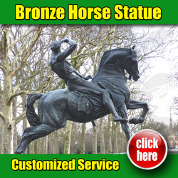 Famous Bronze Horse Statue Kensington Gardens (Customized Service Is Available )