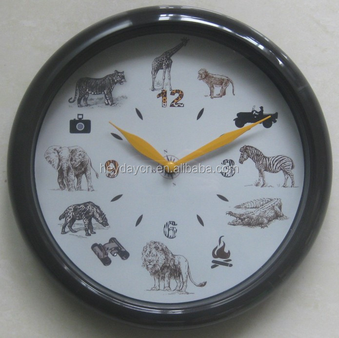 animal sounds musical plastic wall clock(HD-8021A)
