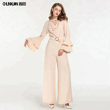 Sale ladies custom made dubai chiffon jumpsuit