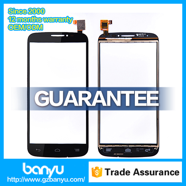 Banyu directly supply original touch screen for alcatel ot 7040 digitizer replacement
