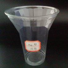 10oz 95mm Disposable Plastic Cups for Cold Drink Salad Ice Cream with Lid