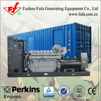 1200KVA Containerized Diesel Generator price with uk Perkins Engine 4012-46TWG2A
