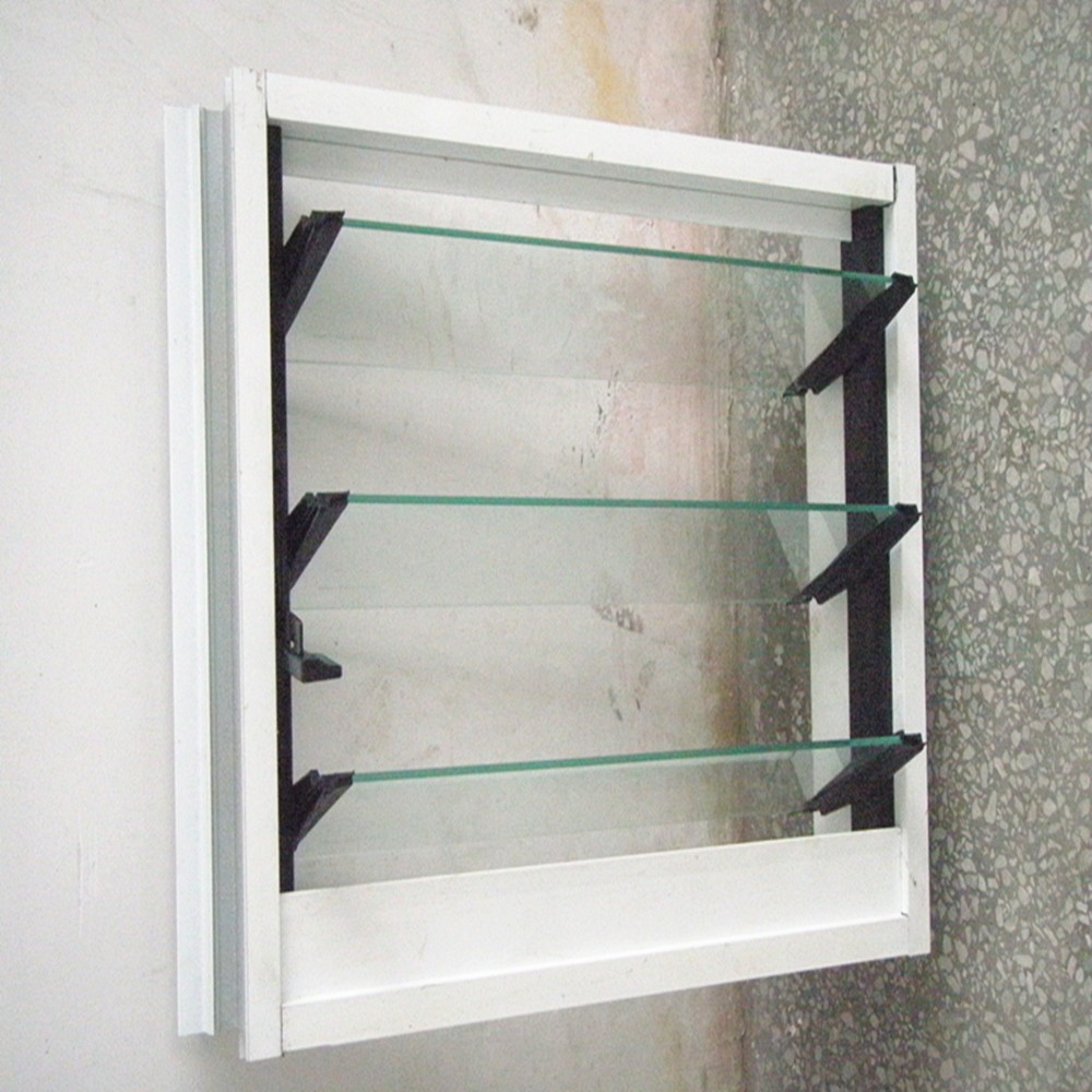 Aluminum window design move glass louver price
