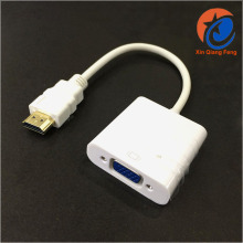 High quantity mini White coaxial hdmi to vga cable adapter