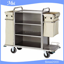 Hotel Housekeeping Stainless Steel Linen Trolley
