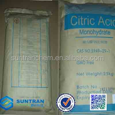 citric acid monohydrate BP98/citric acid anhydrous/acido citrico/citric acid price