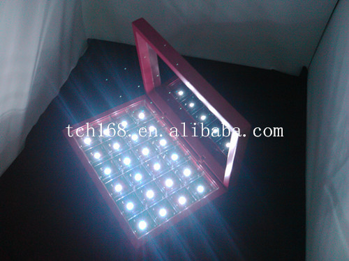 2014 best design acrylic make up box with LED lights