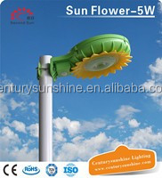 Sunflower Decorative IP65 Small power 5w all in one solar street lights wit pole