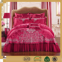 Elegant Textile Wedding Bedding Sets nature bed sheet sets