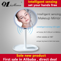 LED infrared sensor single-sided makeup mirror with light