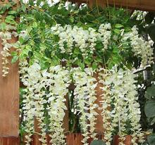 Artificial Wisteria Flower Rattan Flower Vines Garlands For Wedding Party Centerpieces Decorations Home Ornament