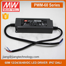 60W Dimmable LED Driver 24V 2.5A PWM-60-24 Mean Well PWM Output Switching Power Supply