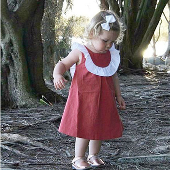 MS75417B New style baby girls dress cotton sleeveless dress