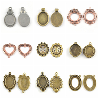 Good Quality Pendant Base Settings Tiny Charm Pendant for Necklace DIY Gift for Girls Wholesale Jewelry Making Supplies
