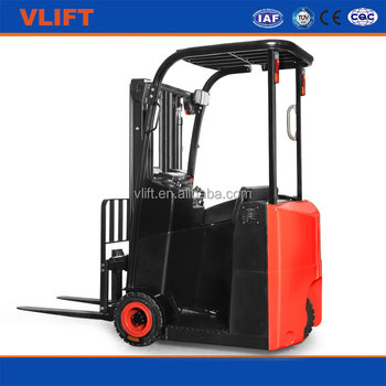 1.2 Ton Narrow Aisle 3 Wheels Electric Forklift Truck With Solid Tires for good price