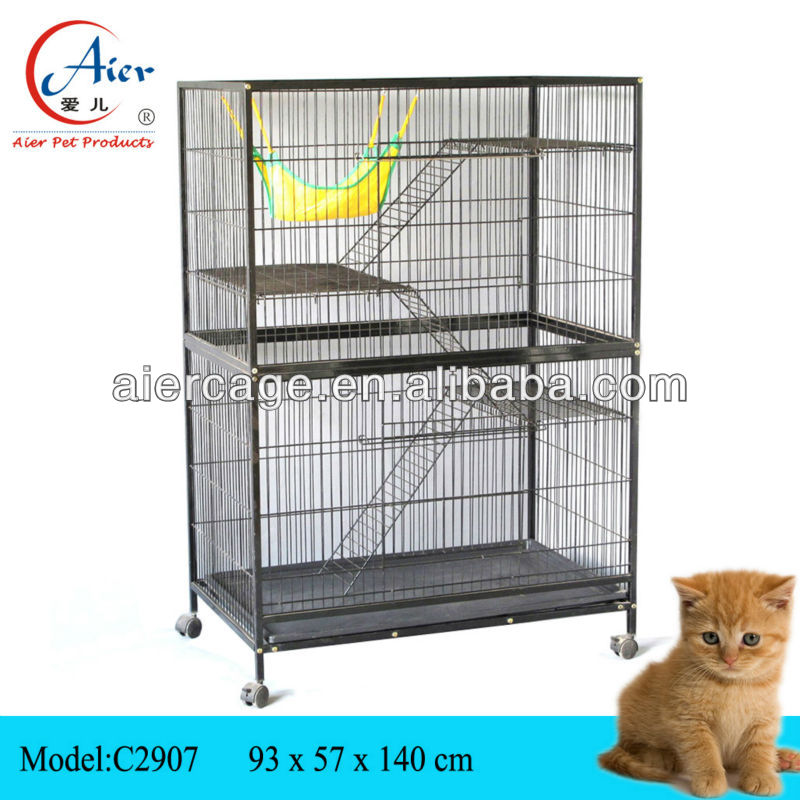 wholesale pet supplies cat cage with wheels