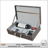 Hot Selling New Design Wooden Wine Box Set for Promotion