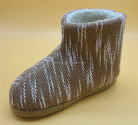 Warm comfortable cheap winter knitted ankle snow boots house shoes