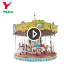 Adult Carnival Ride Game Machine Indoor Outdoor Playground Electric Christmas Kids Ride On Merry Go Round