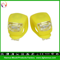 Wholesale 2 LEDs 3 modes silicone material battery powered mountainbike small led tuning light for bike with CE&RoHs