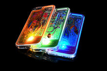 The latest tpu Ultra Thin transparent led light mobile phone case for huawei G610 back cover