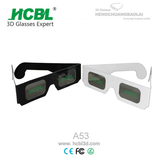 Comfortable DIY Paper Cardboard Depth 3D Glasses For 3D Cinema and 3D TV