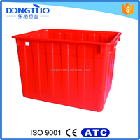 Large hard plastic water storage container