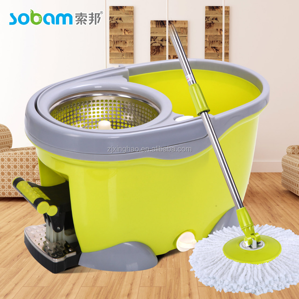 SOBAM Brand top quality 360 spin mop and bucket sticker home use spin mop