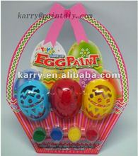 EASTER GIFT EGG PAINT DIY 4 COLORS WITH 3 HOLLOW EGGS AND A BRUSH NON-TOXIC