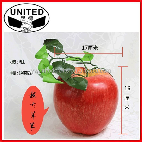 Large artificial red apples decorative EPS foam Fruit, giant Imitation Fake apple fruit