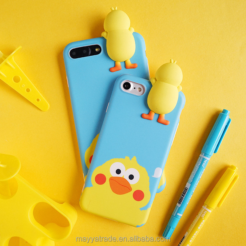 Parrot Poinko TPU Flexible 3D Silicone Phone case Cover Cute Animal Case for Girl Skin Feeling Full Protective Case for iPhone 7