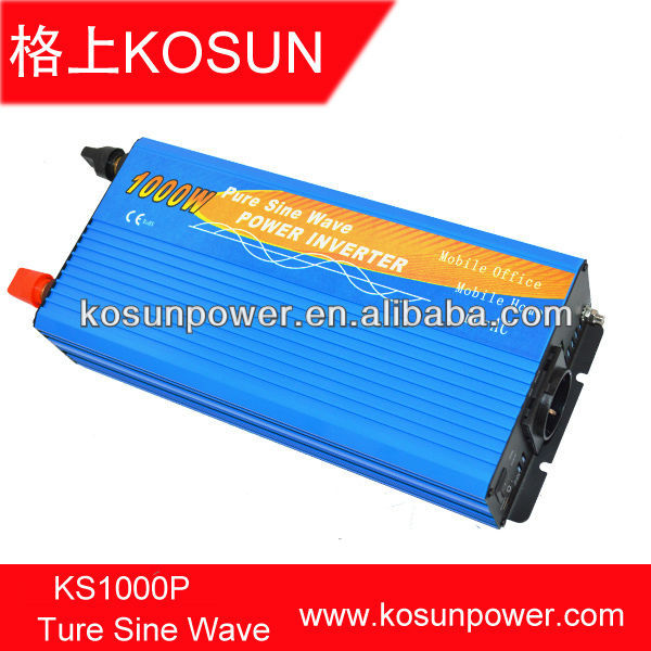 12V to 120V DC/AC 1000W Pure Sine Wave Power Inverter