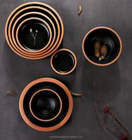 Creative Rim black melamine bowl,dinnerware